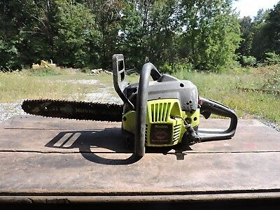 Vintage Used Poulan Wood Shark Chainsaw, Parts/Restoration, (VE)