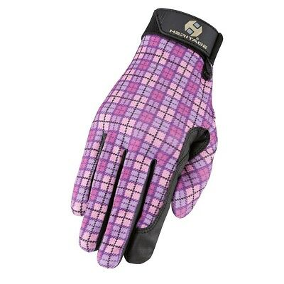 (7, PinkPlaid) - Heritage Performance Glove. Heritage Products. Free Delivery