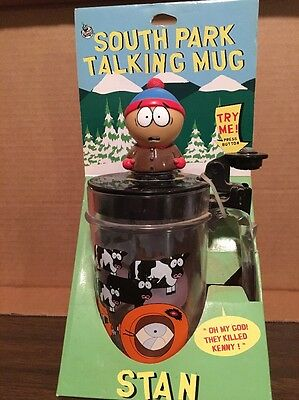 "1998 South Park Talking Mug STAN ""oh My God They Killed Kenny"" Works"