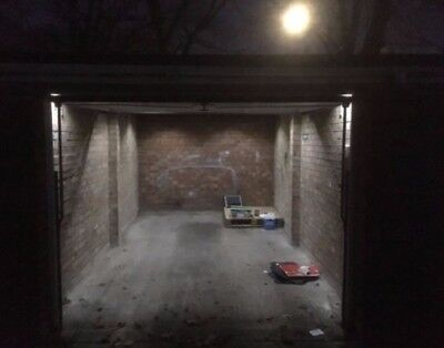 Alarmed garage / storage unit to rent with LED lighting for dark nights