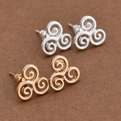Celtic Triskele Earrings Triquetra Triskelion Ear Studs Fashion Jewelry Gifts