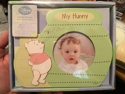 Winnie the Pooh My Hunny Photo Frame New in Box Disney Baby Picture