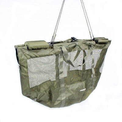 Abode® DLX Folding XL Carp Safety Zip Mesh Floating Weigh Sling & Stink Bag