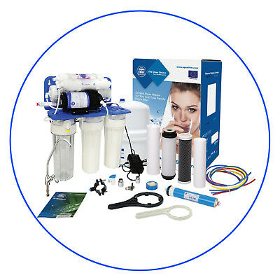 6 Stage Reverse Osmosis System with PUMP•Drinking Water•RO Unit•Aquafilter•75GPD