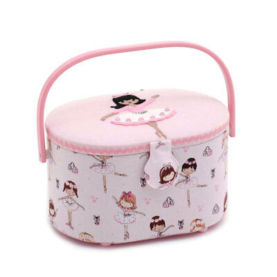 HobbyGift HGSOA346 | Ballerina Small Oval Sewing Box | 10 x 23 x 18cm