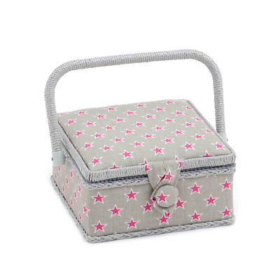 HobbyGift HGS361 | Stars and Stripes Small Square Sewing Box | 20 x 20 x 11cm