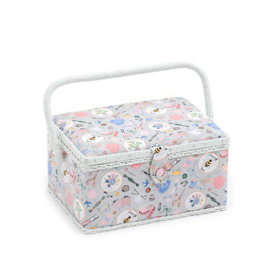HobbyGift MRM286 | Handmade Pattern Medium Sewing Box | 18.5 x 26 x 15cm