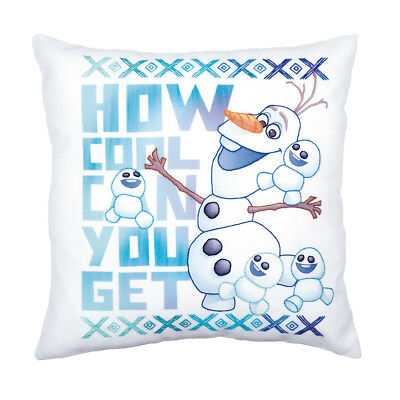VERVACO Embroidery Kit: Printed Pillow: Cover Olaf + Friends Frozen PN-0166253