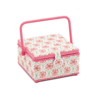 S&W Collection HGMSQ279 | Medium Square Sewing Box | Blossoming Trellis
