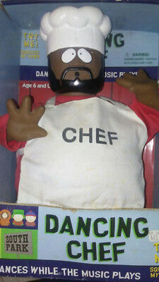 EXTREMELY RARE & VHTF 1999 Gemmy Animatronic Figure - South Park Dancing Chef