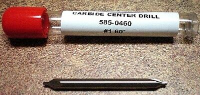 CARBIDE CENTER DRILL #1  60 degree MADE IN USA BEST PRICE on E BAY !!! 585-0460