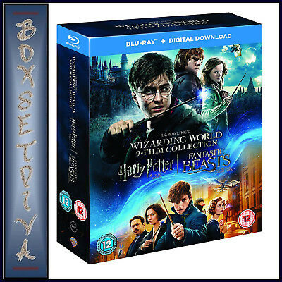 Wizarding World - 9 Film Collection - Harry Potter Plus  Fantasic Beasts *new**