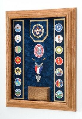 (Blue/Navy) - Award Medal Display Case 30cm x 41cm (Blue/Navy). Delivery is Free