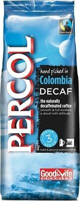Percol Fairtrade Colombia Arabica Roast and Ground Decaffeinated Coffee 227 g