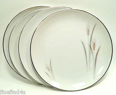 Platinum Wheat by Fine China Japan Set(s) of 4 Bread & Butter Dessert Plates