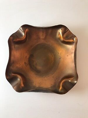 Drumgold -121 - Copper Square Ashtray / Bowl - Arts and Crafts (MCM)