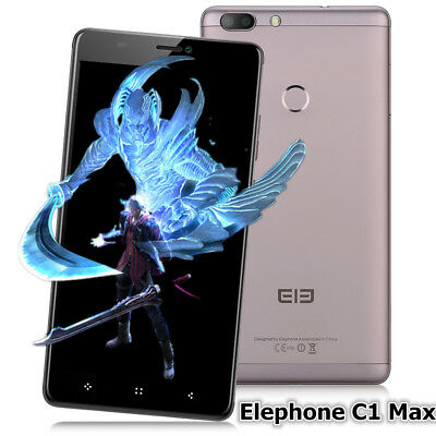 "Neuf 6.0"" 3*cam Elephone C1 Max 2SIM 32GB 13MP 4G Android7.0 Téléphone Mobile FR"