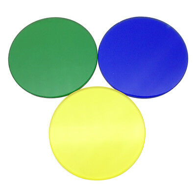 Optical Color Filter 35 mm Diameter for Biological Microscope Green Blue Yellow