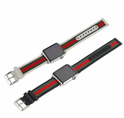 Apple Watch Band Strap Gucci Pattern Sport Replacement Leather Band 38mm or 42mm