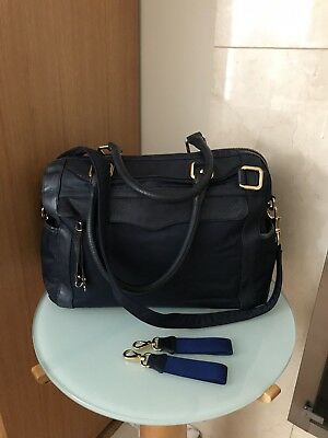 Rebecca Minkoff Knocked Up Baby Diaper Bag Navy Blue