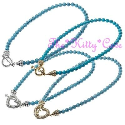 Genuine Semi-Precious Turquoise Beads Toggle Meditation Healing Crystal Necklace