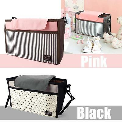 Baby Trolley Storage Bag Stroller Cup Carriage Pram Organizer Simple Charm