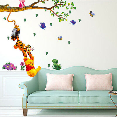 Winnie The Pooh Wall Stickers Nursery Kids Baby Room Vinyl Art DIY Decal Decor