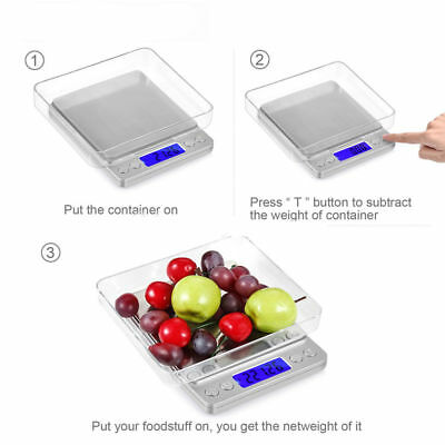 3kg/0.1g 0.01-500g Kitchen Food Scale Digital LCD Electronic Weight Postal New