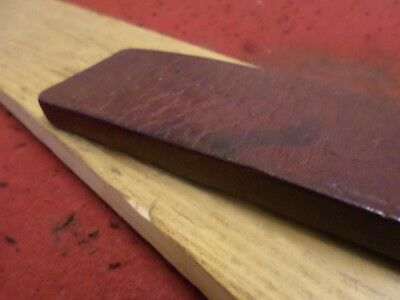 tawse/cane genuine hard dense leather rare old double ended strap ...