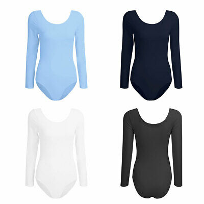 Sexy Women Leotard Dancewear Long Sleeve Ballet Dance Gymnastics Bodysuit XS-XL