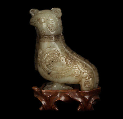 China 19./20. Jh. Statue -A Chinese Mutton Fat Jade Archaistic Vessel - Chinois