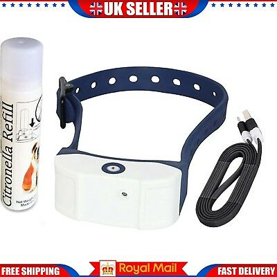 Dog Spray Collar Stop Barking Rechargeable Citronella Anti Bark Train Mist UK