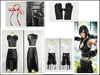 Final Fantasy VII FF7 TIFA Cosplay Costume
