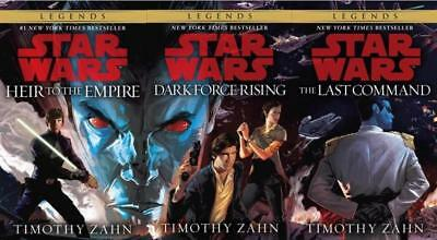 Star Wars THRAWN TRILOGY by Timothy Zahn PAPERBACK Collection Set of Books 1-3