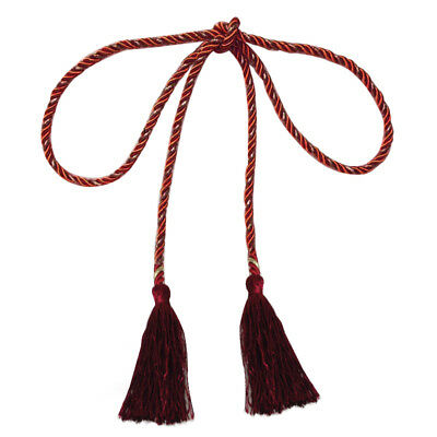 135cm Tassel Curtain tied rope(Jujube red and gold) E7K7