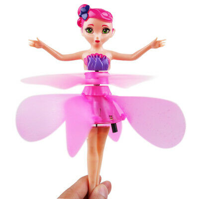 Pink Flying Fairy Magic Infrared Induction Control Princess Dolls Toy Xmas Gift