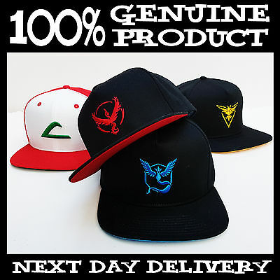 REAL NEW Pokemon Go Ash Ketchum Valor Mystic Instinct hat snapback ERA snapbacks