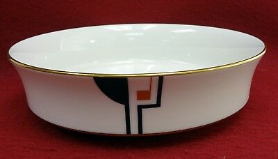 NORITAKE china PORTFOLIO #7736 pattern Round Vegetable Serving Bowl - 8-1/4""