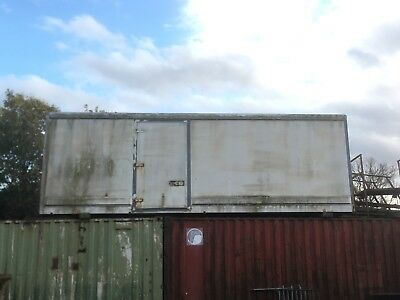 25ft Storage Box Container Shed Or Workshop Garage Rear and side door