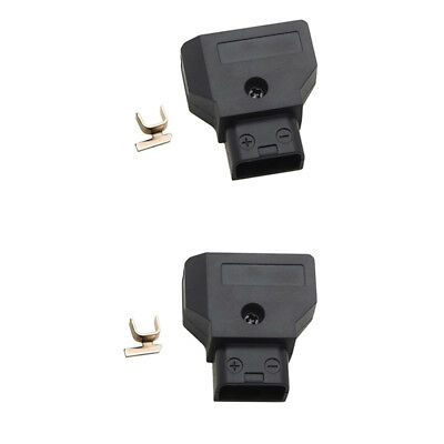 2x High Quality Male D-tap Dta B-type Plug Connector for Anton Bauer Battery