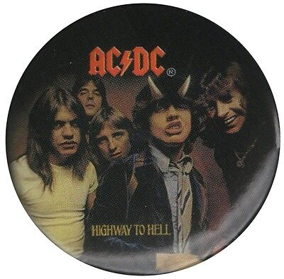 Official ACDC Highway to Hell LP cover logo 1.5 inch button pin badge