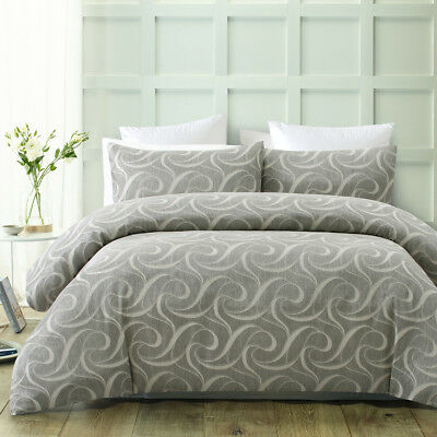 6 PIECE COMFORTER SET Waffle Quilted 300TC JACQUARD QUEEN KING