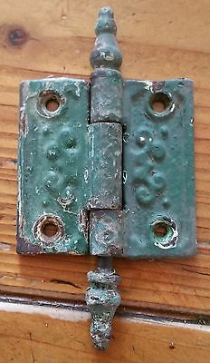 "Antique Cast Iron Victorian Steeple Eastlake Door Hinge  2.5"" x 2.5"""