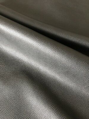 GRADE A Cowhide French Calf - Luxury Leather - BLACK FULL GRAIN