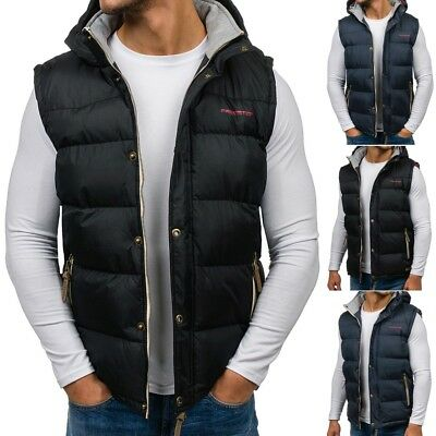 BOLF Mens Vests Gilet Puffer Waistcoat Lined Bodywarmer Winter Jacket 4D4 Hooded