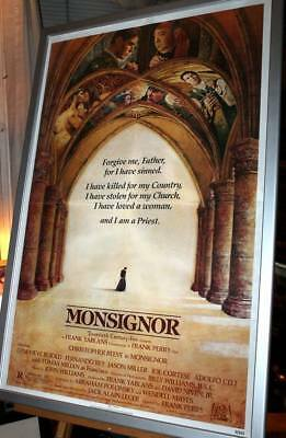 MONSIGNOR Movie Poster One Sheet Christopher Reeve