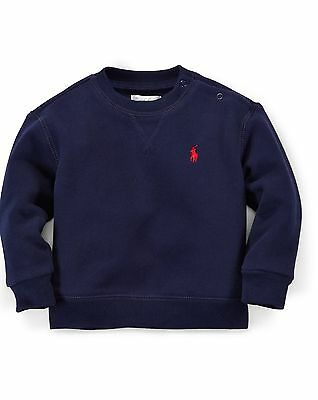 Ralph Lauren Polo Baby Fleece Crewneck Sweatshirt Shirt 9 months Choose Color