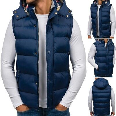 BOLF Mens Vests Gilet Waistcoat Bodywarmer Winter Jacket Warm Lined 4D4 Puffer