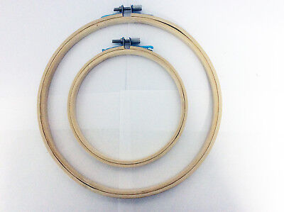Bamboo Hand Embroidery Cross Stitch Ring Hoop Frames Top Quality UK Seller