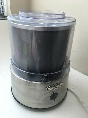 Classic Stainless Electric VillaWare Ice Cream Maker Model 5100 Sherbet Gelato